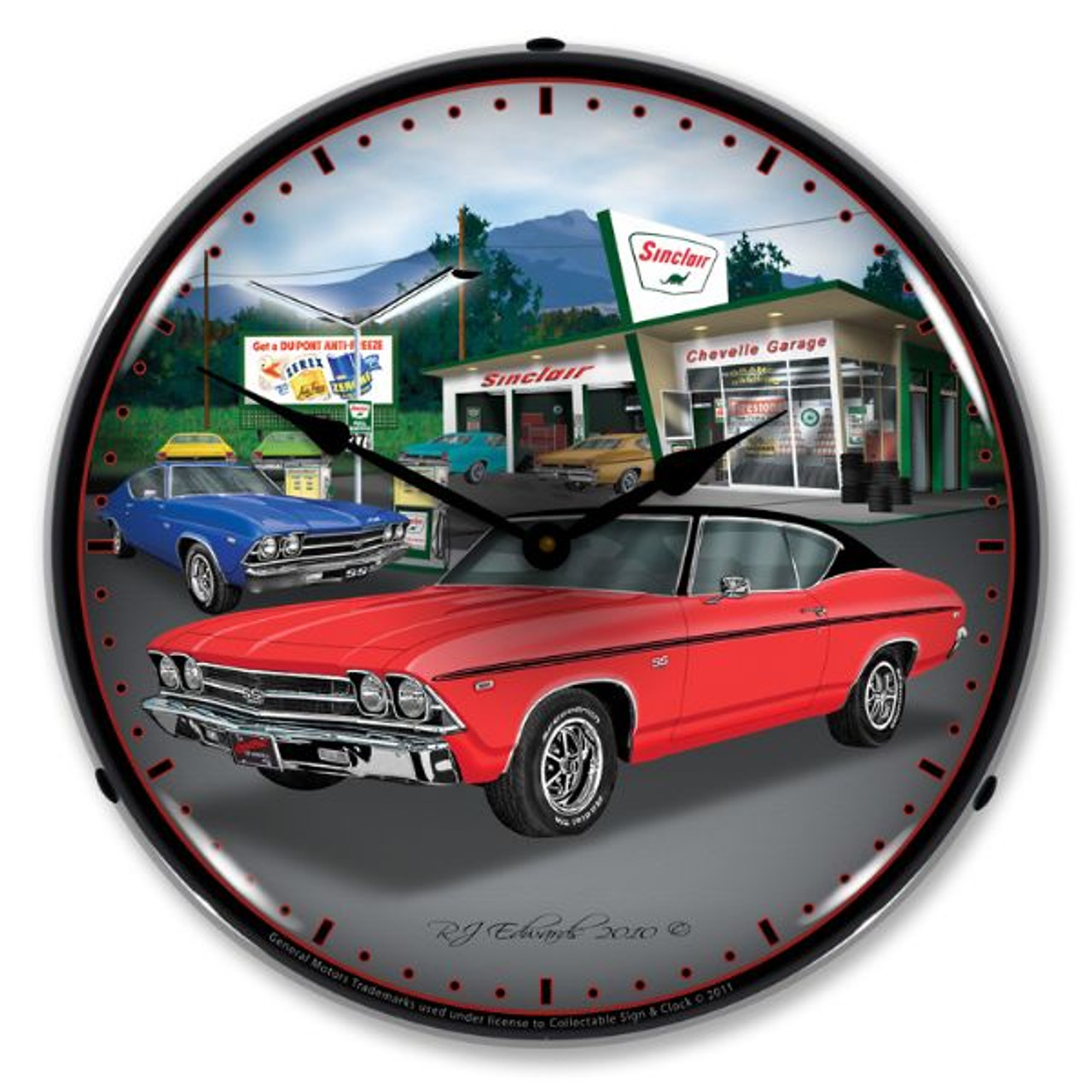 1969 Chevelle Lighted Wall Clock