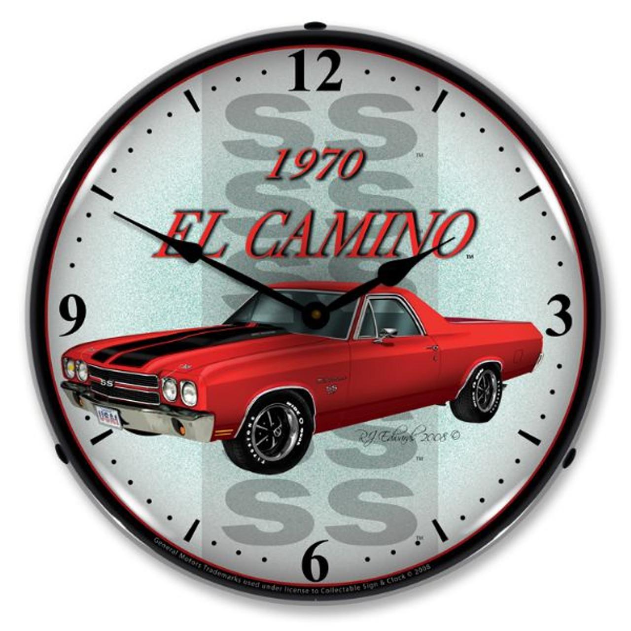 1970 El Camino Lighted Wall Clock