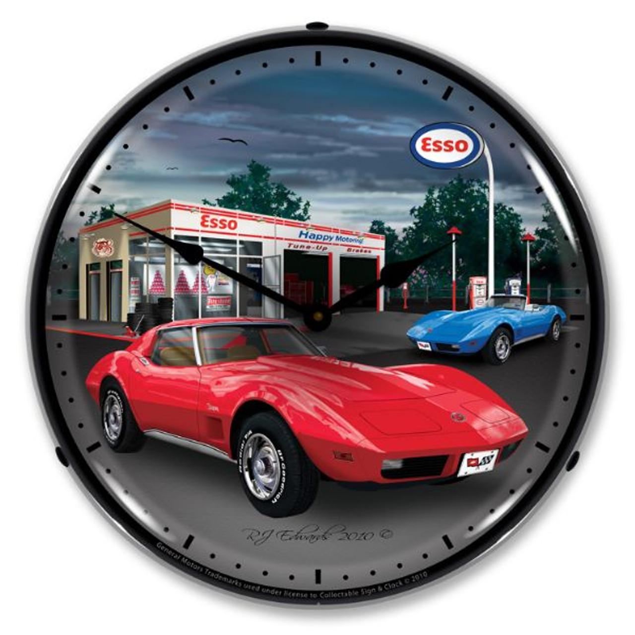 1974 Corvette Lighted Wall Clock