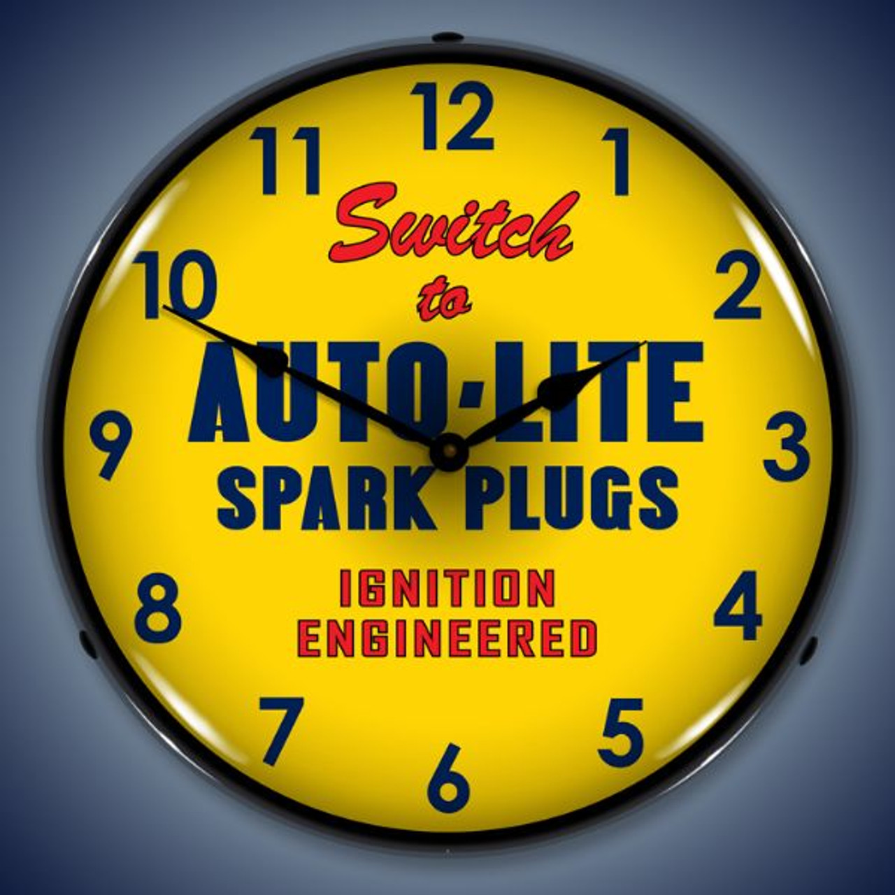 Retro  Autolite Lighted Wall Clock 14 x 14 Inches