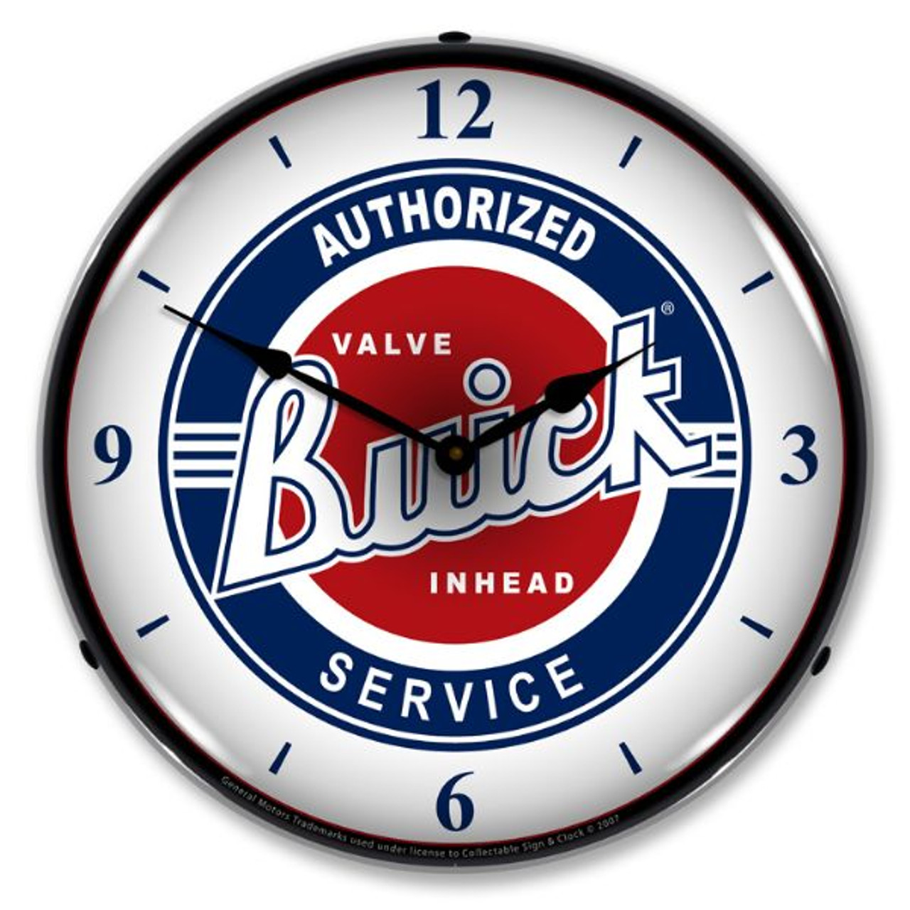 Buick Service w/numbers Lighted Wall Clock