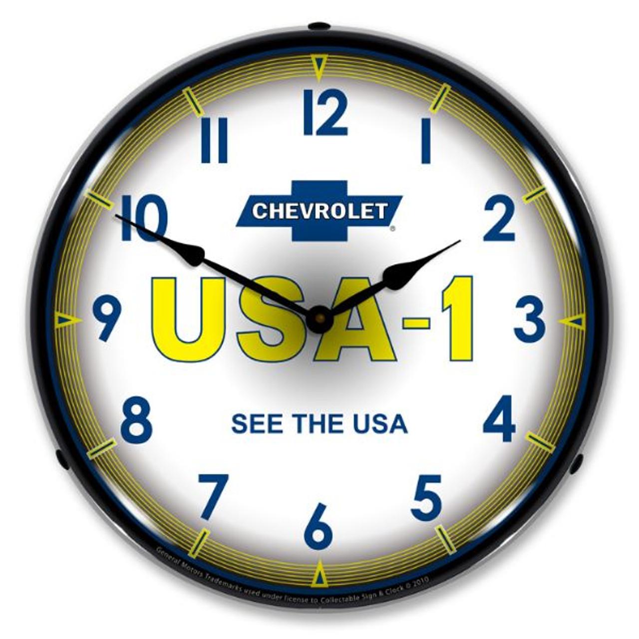 Chevrolet   USA1 Lighted Wall Clock