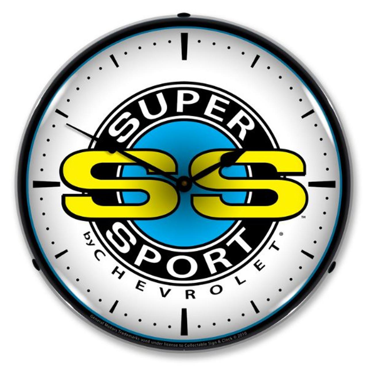 Chevrolet Super Sport Lighted Wall Clock
