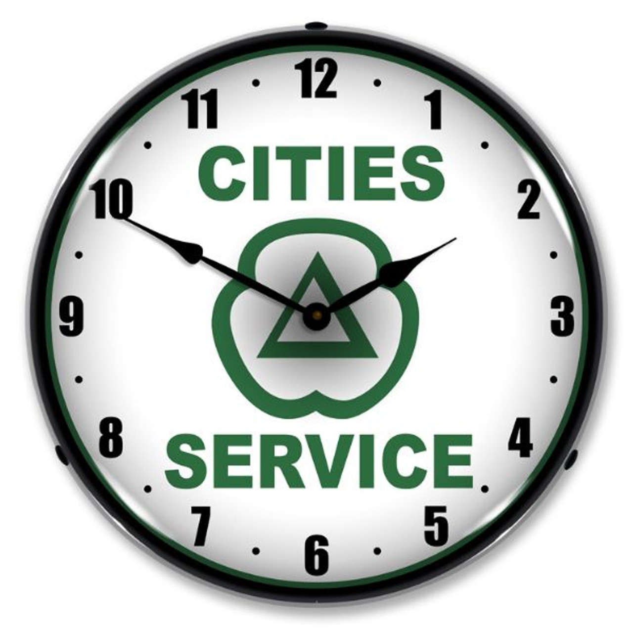 Cities Services Lighted Wall Clock