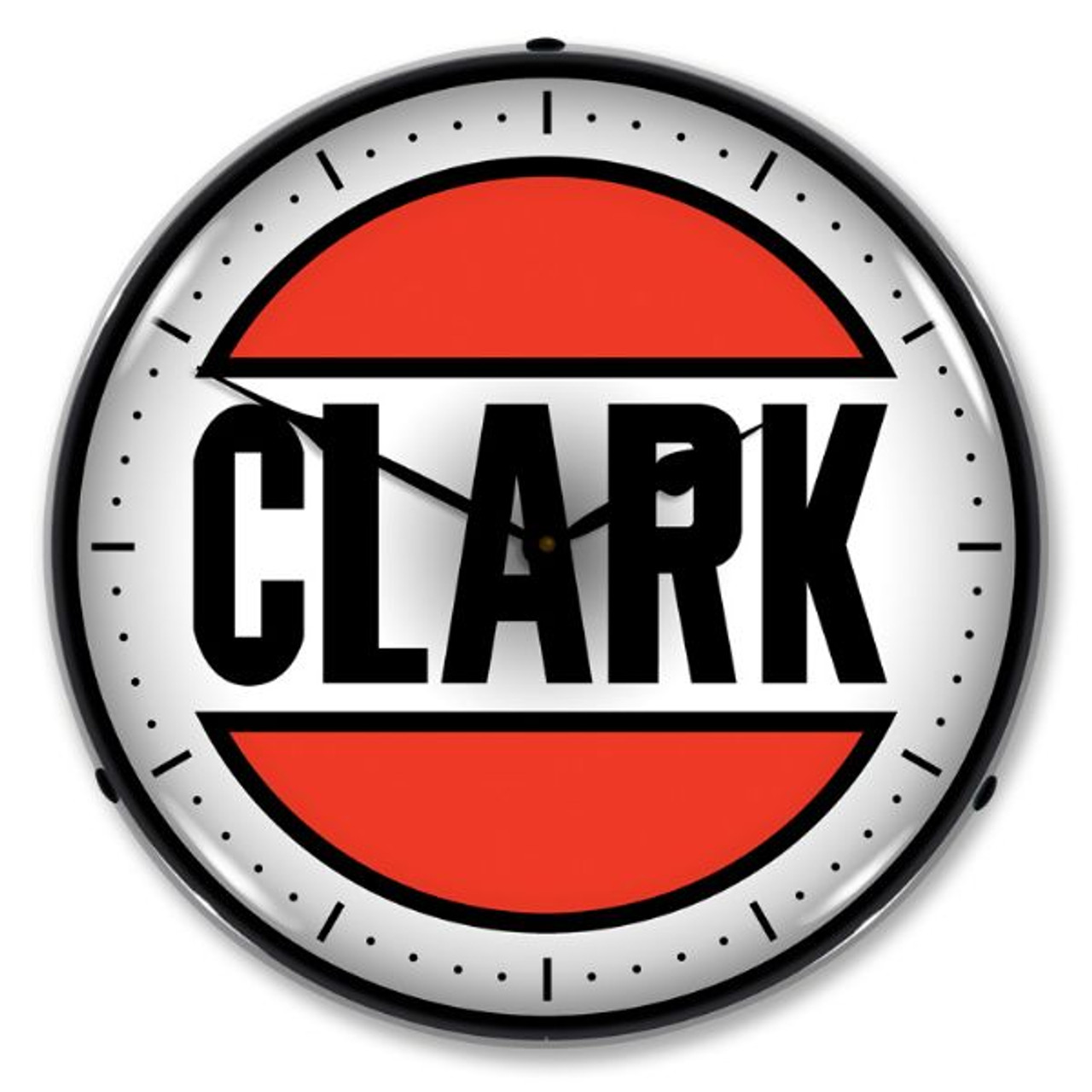 Clark Gas Lighted Wall Clock