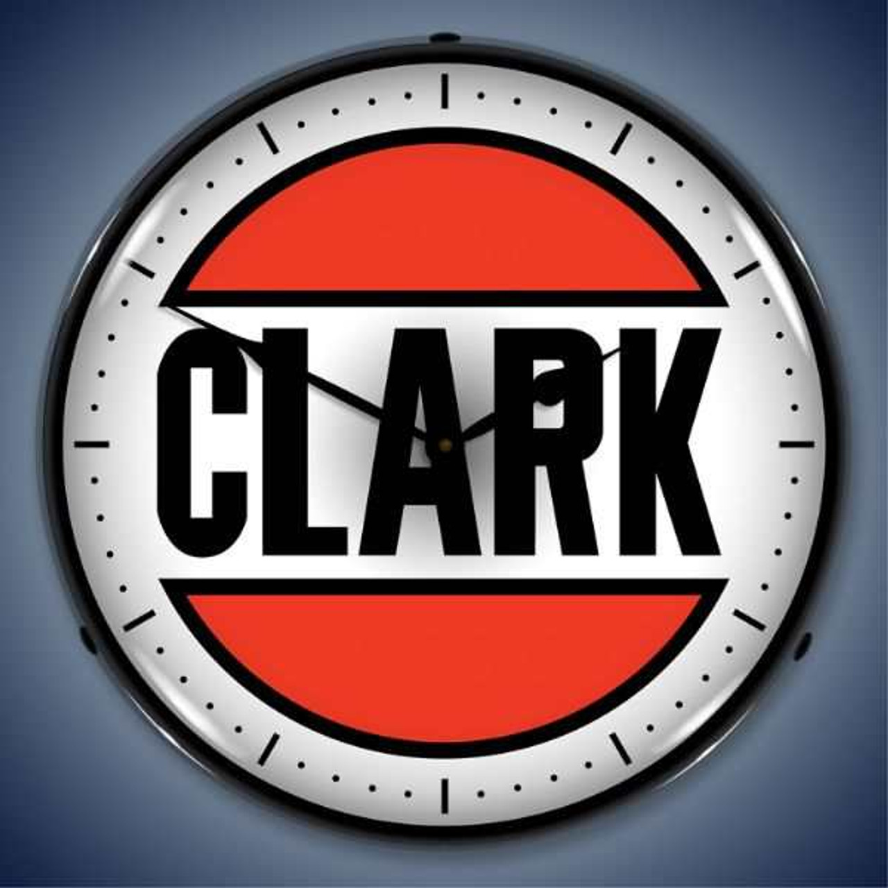 Retro  Clark Gas Lighted Wall Clock 14 x 14 Inches