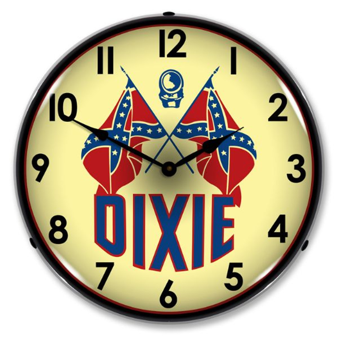 Dixie Gas Lighted Wall Clock