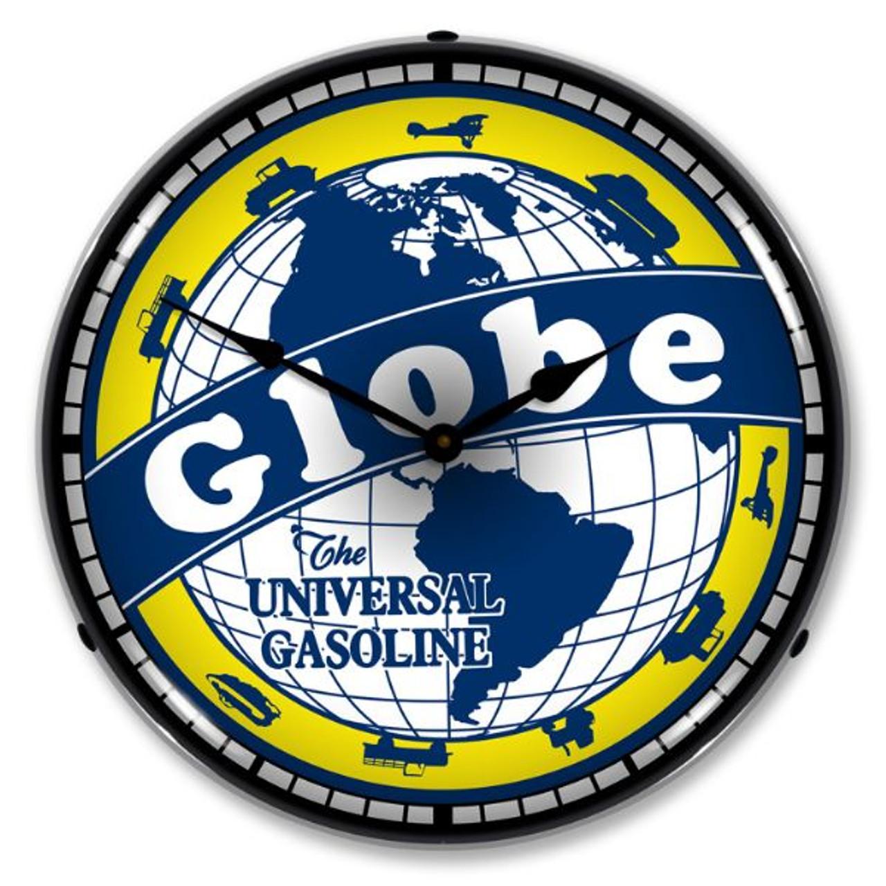 Globe Gas Lighted Wall Clock