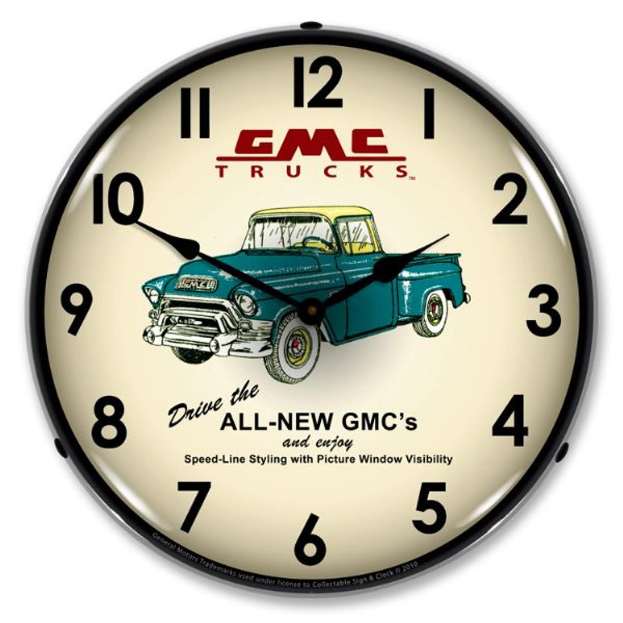 GMC Trucks 1956 Lighted Wall Clock