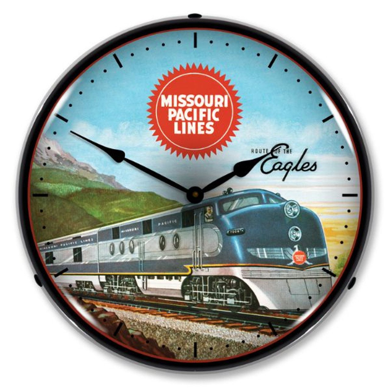 Missouri Pacific Sales Lighted Wall Clock