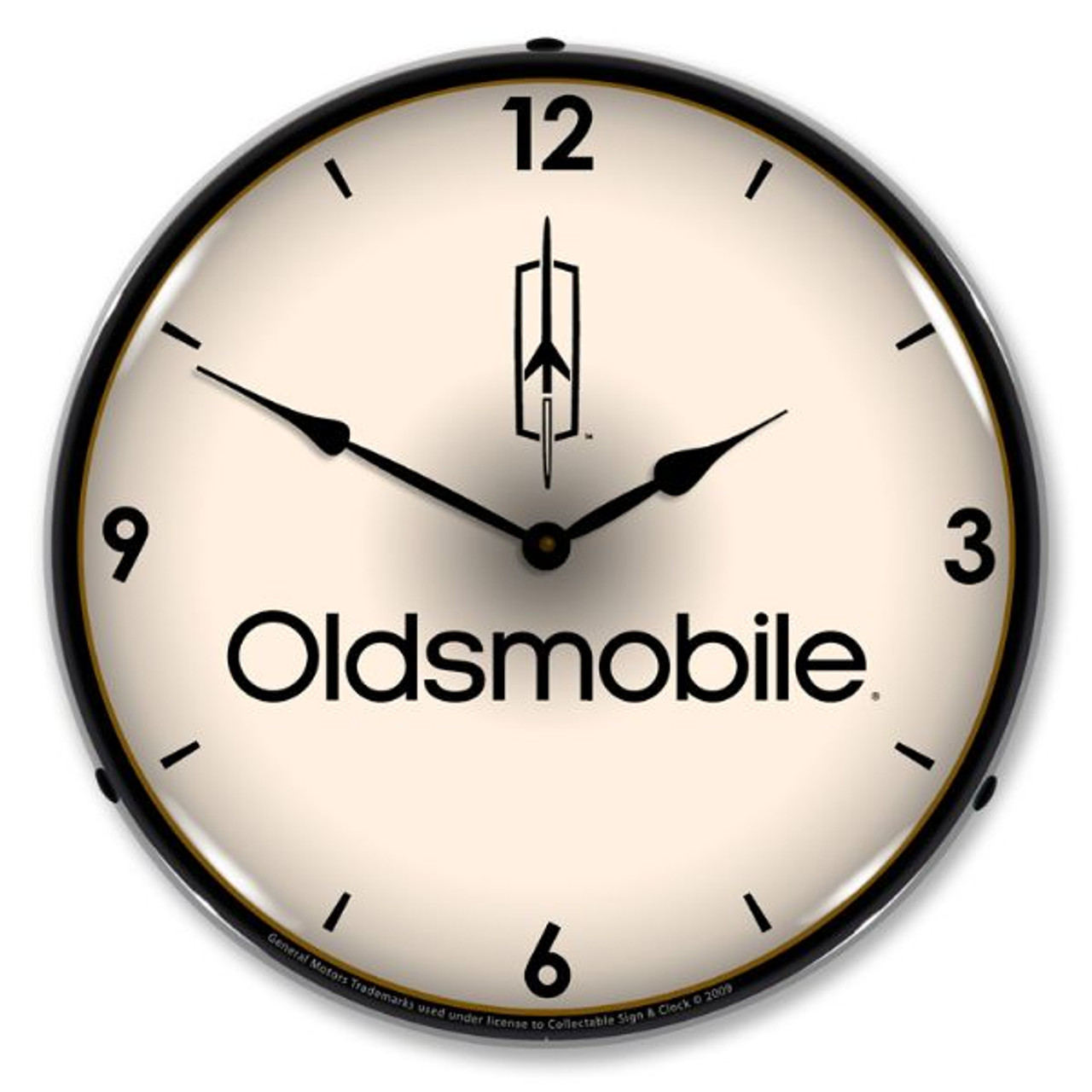 Oldsmobile Lighted Wall Clock