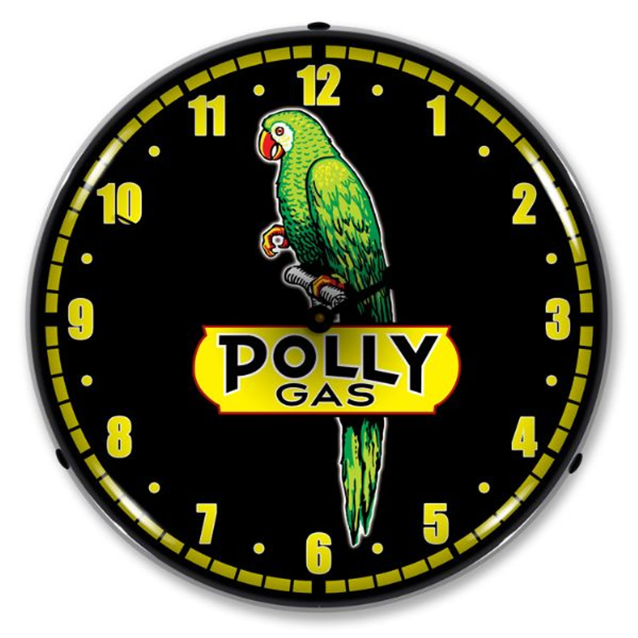 Polly Gas Lighted Wall Clock
