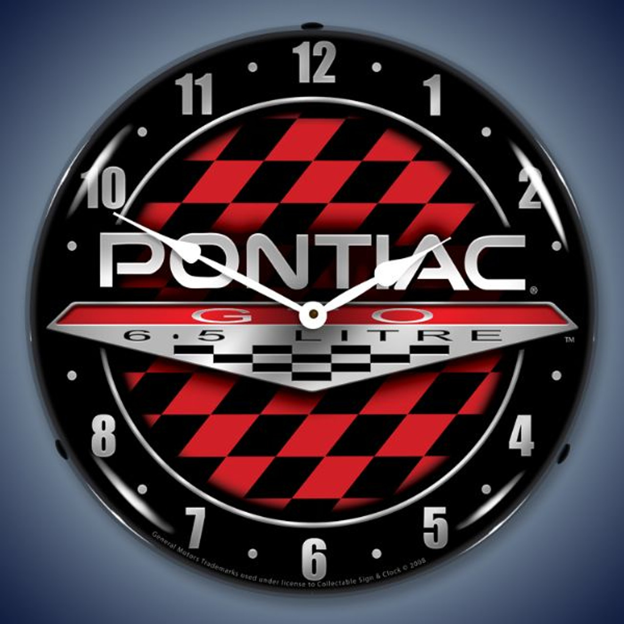 Retro  Pontiac GTO Lighted Wall Clock 14 x 14 Inches