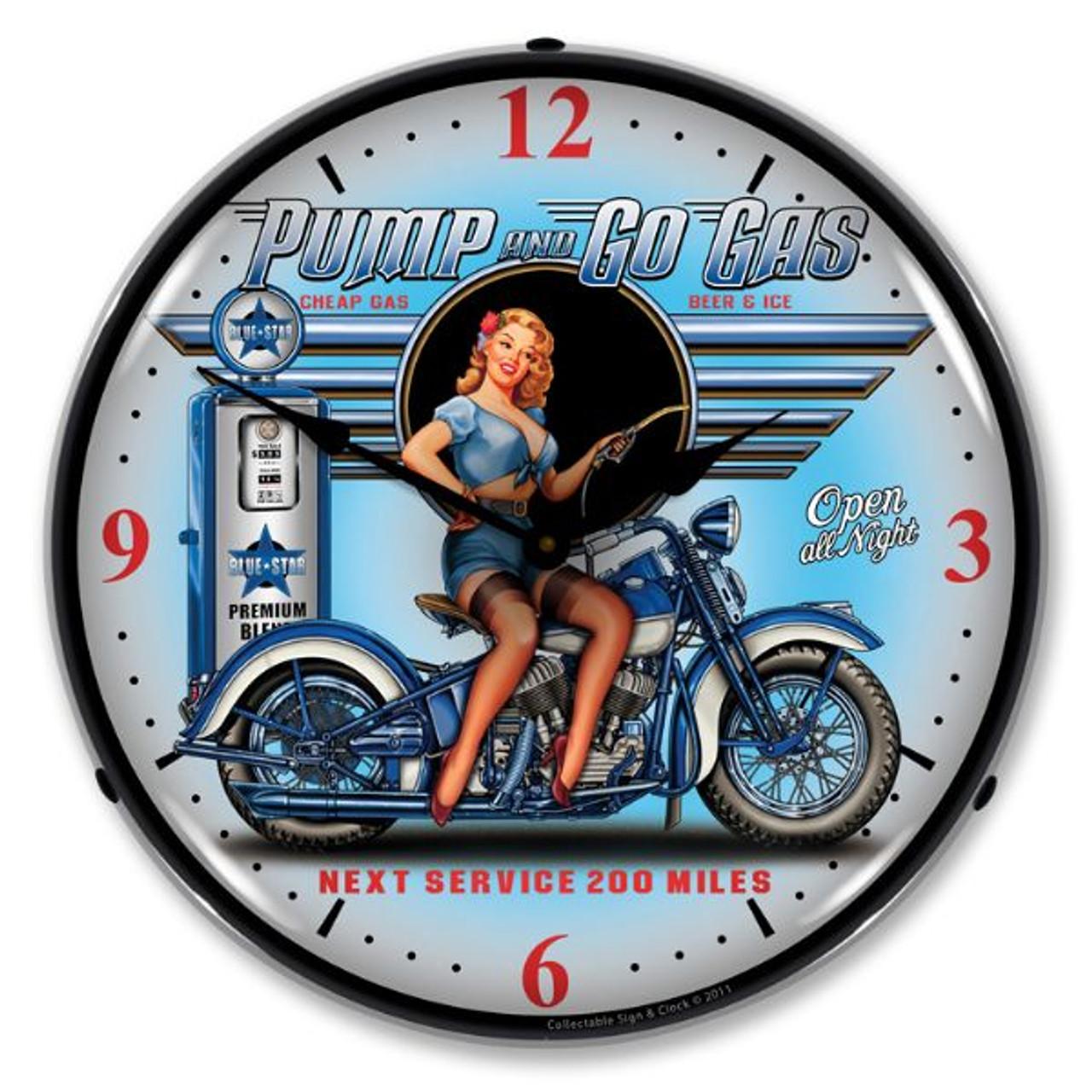 Pump N Go Lighted Wall Clock