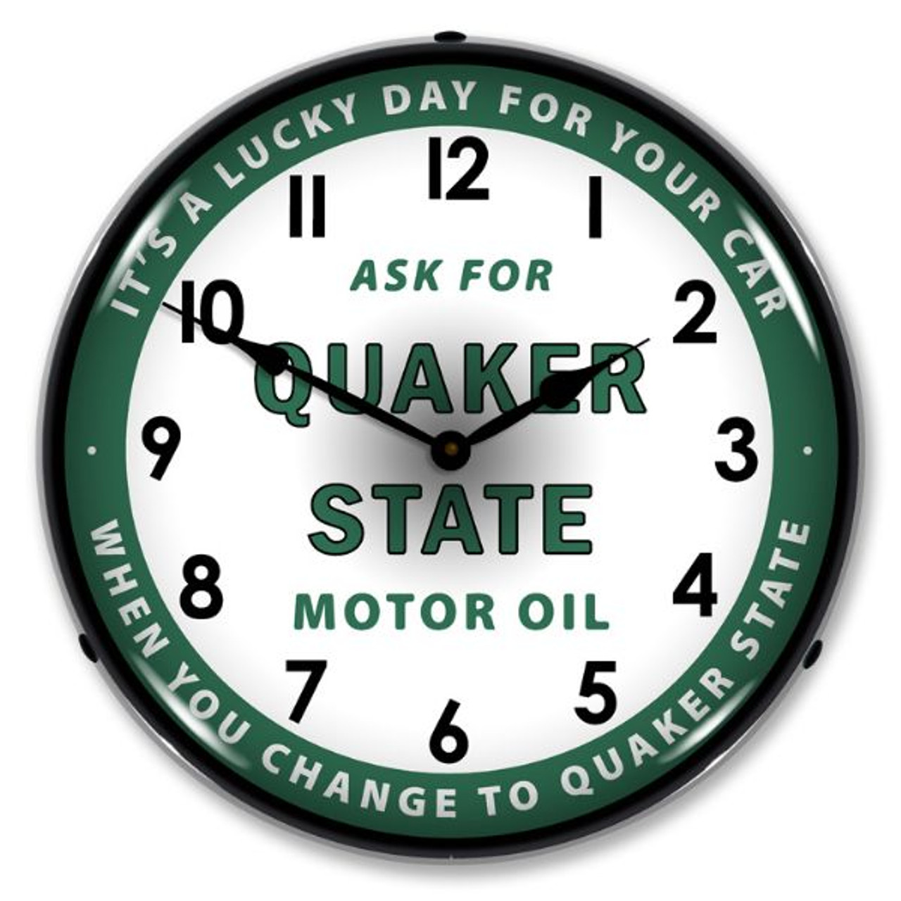 Quaker State Oil Lighted Wall Clock