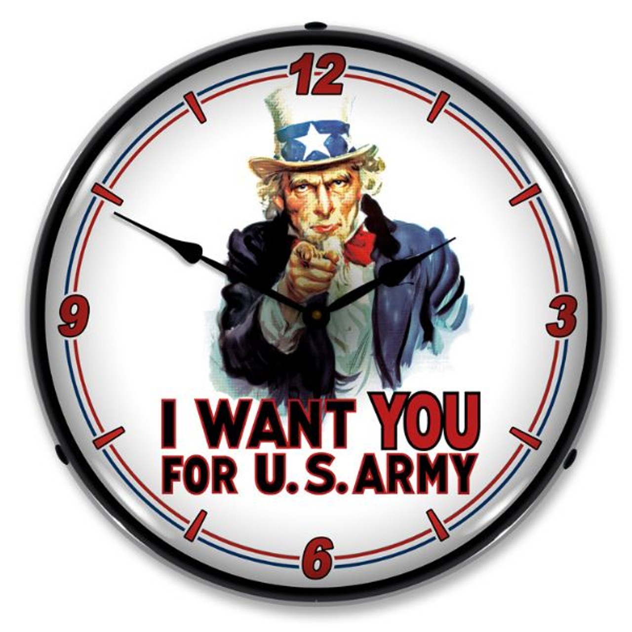 Uncle Sam Lighted Wall Clock