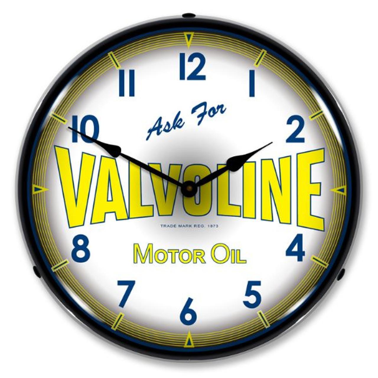 Valvoline Motor Oil Lighted Wall Clock