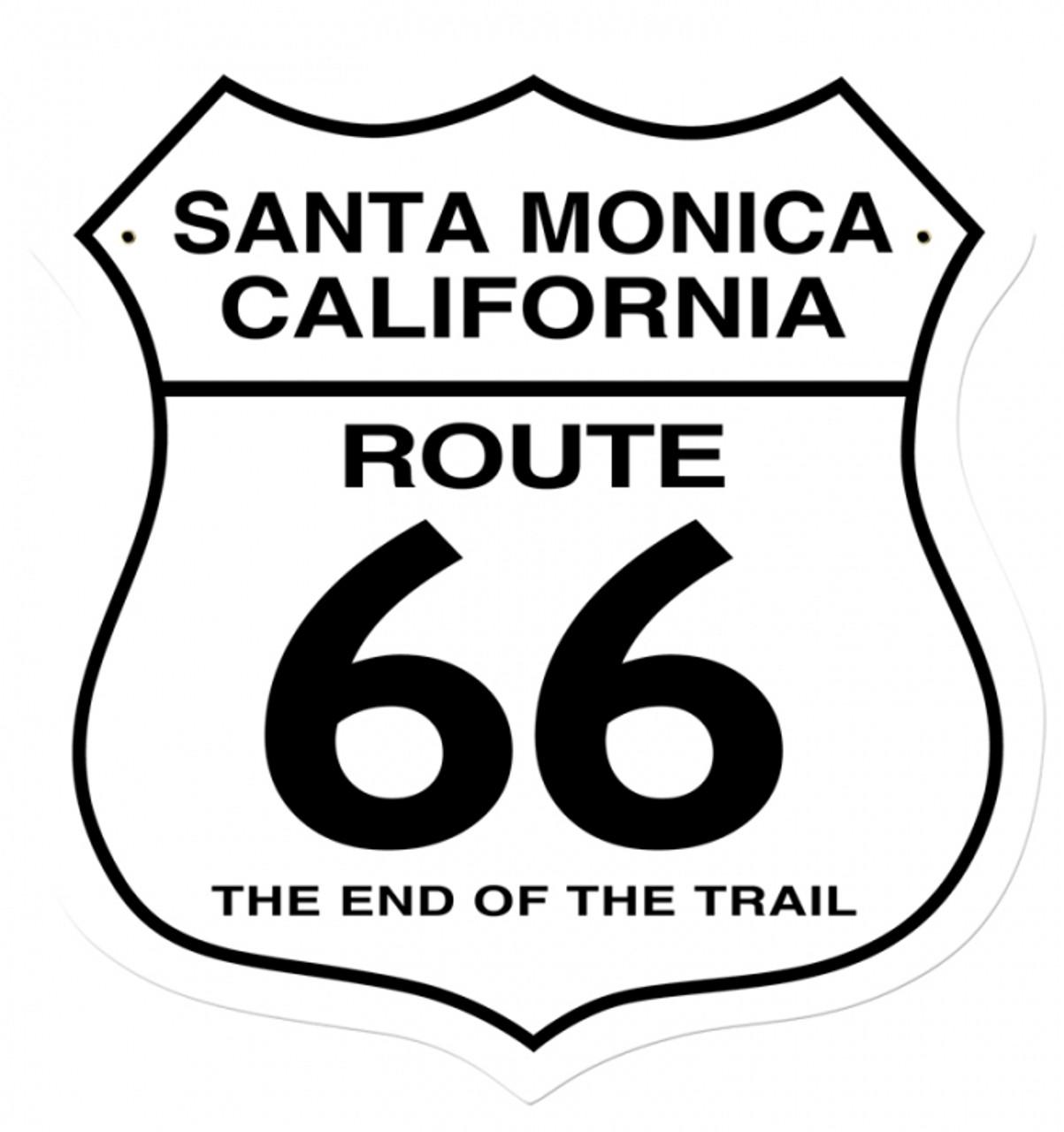 Retro Santa Monica Metal Sign 28 x 28 Inches