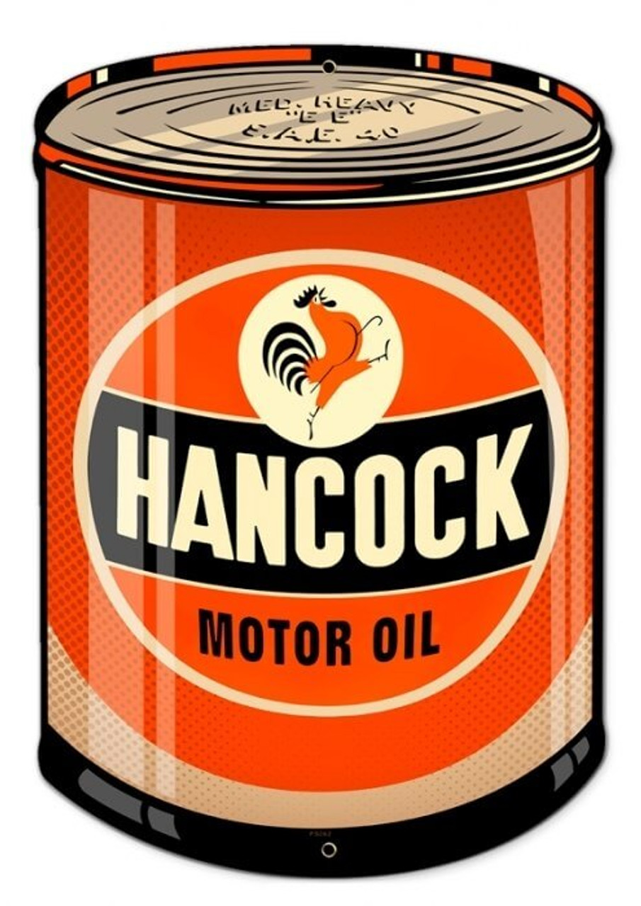 Retro Hancock Oil Metal Sign 14 x 20 Inches