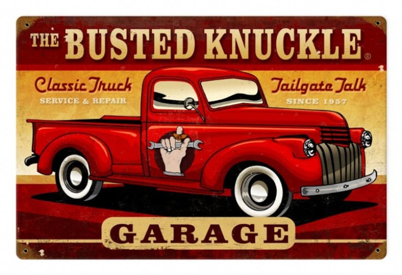 Vintage  Classic Truck Metal Sign 18 x 12 Inches