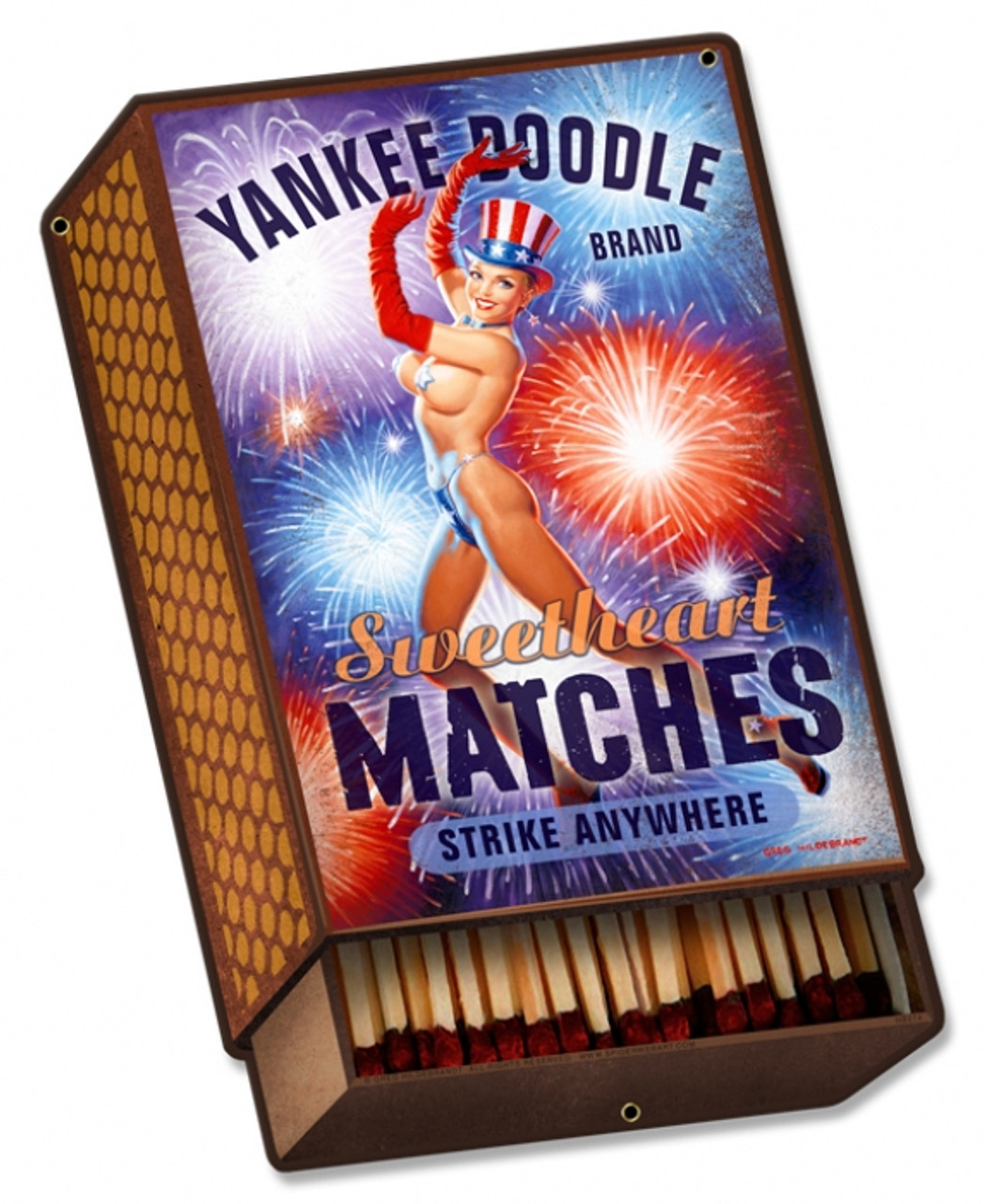 Retro Yankee Doodle Metal Sign 14 x 21  Inches