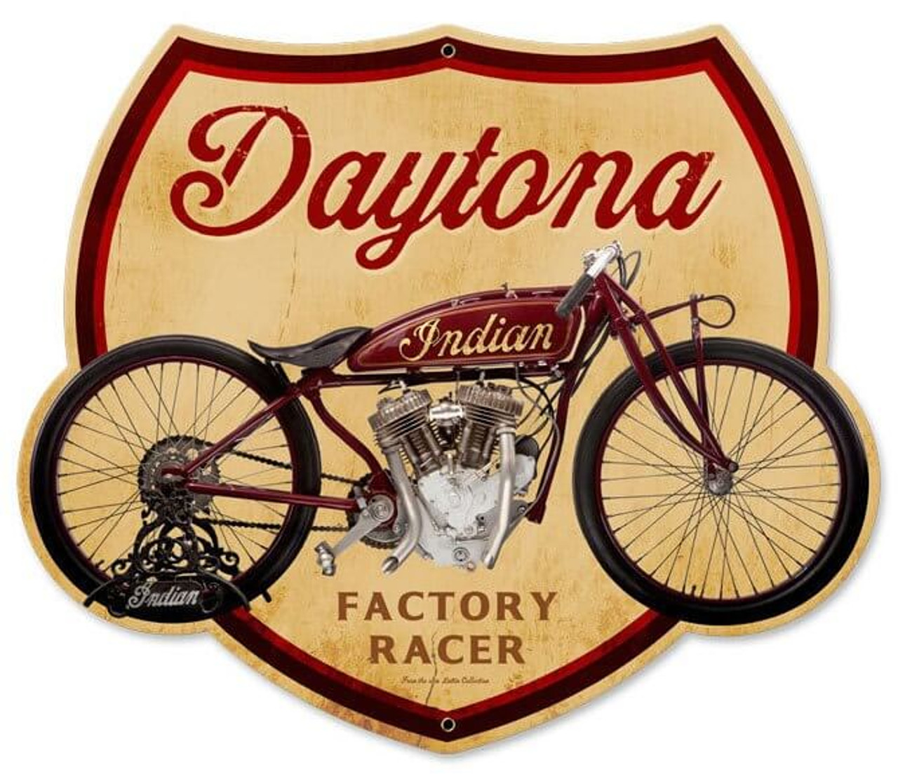 Retro Daytona Metal Sign 17 x 14 Inches