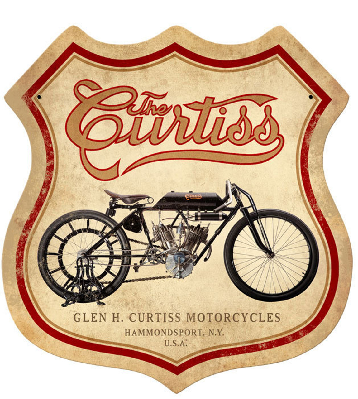 Retro Curtiss Metal Sign 15 x 15 Inches