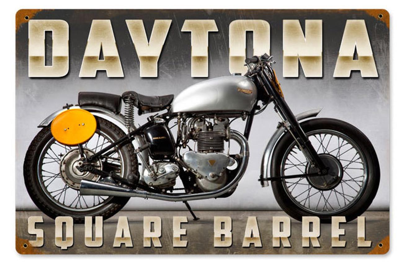 Retro Daytona Metal Sign 18 x 12 Inches
