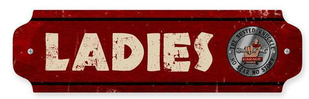 Retro Ladies Metal Sign  12 x 3 Inches