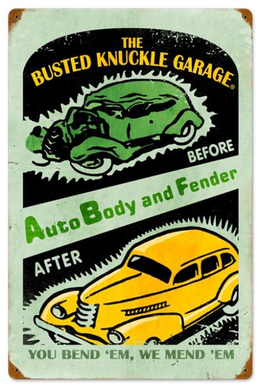 Retro Auto Repair Metal Sign 16 x 24 Inches