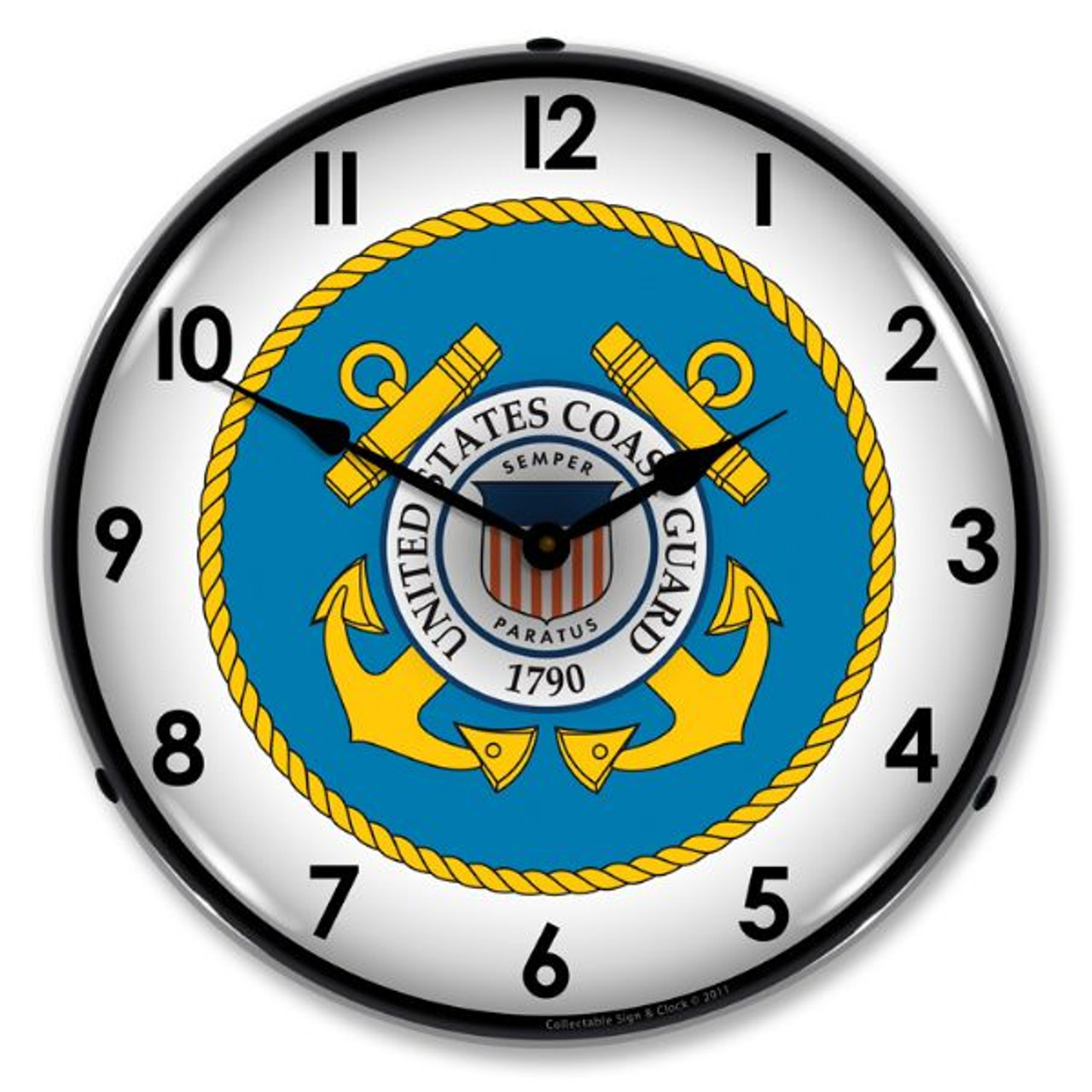 US Coast Guard Lighted Wall Clock