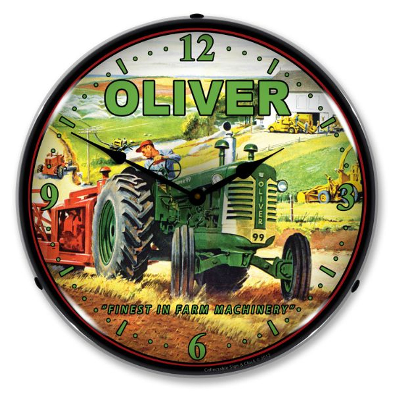 Oliver Tractor Lighted Wall Clock