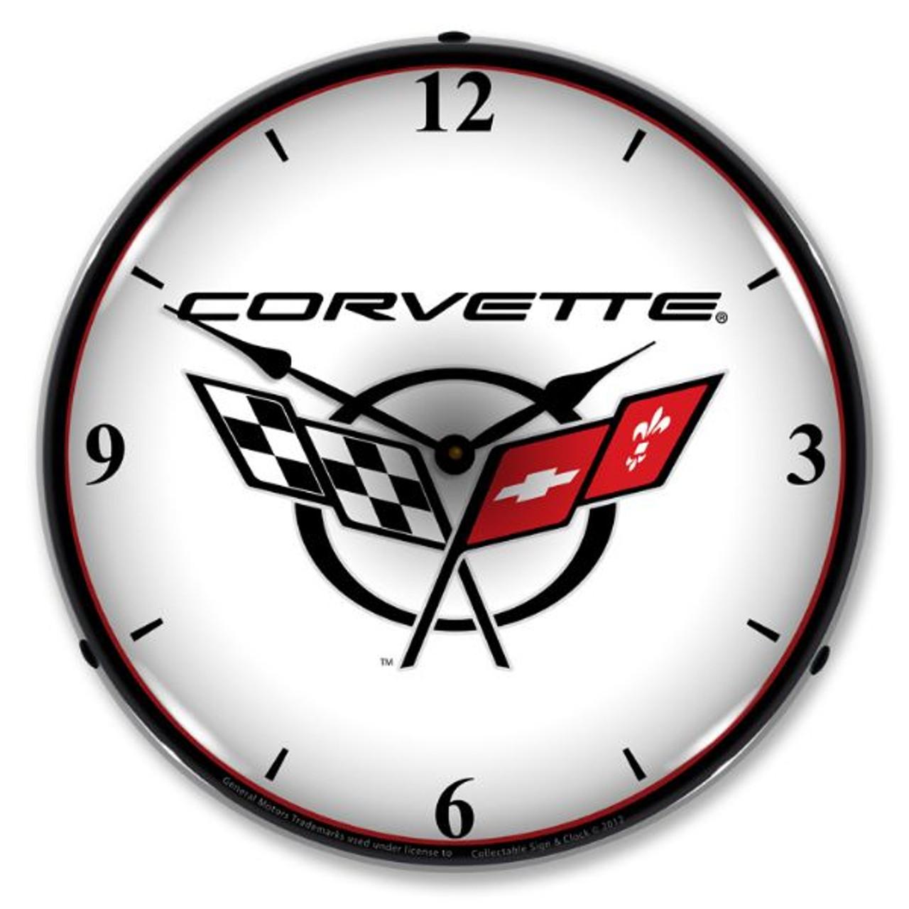 Retro C5 Corvette 2 Lighted Wall Clock