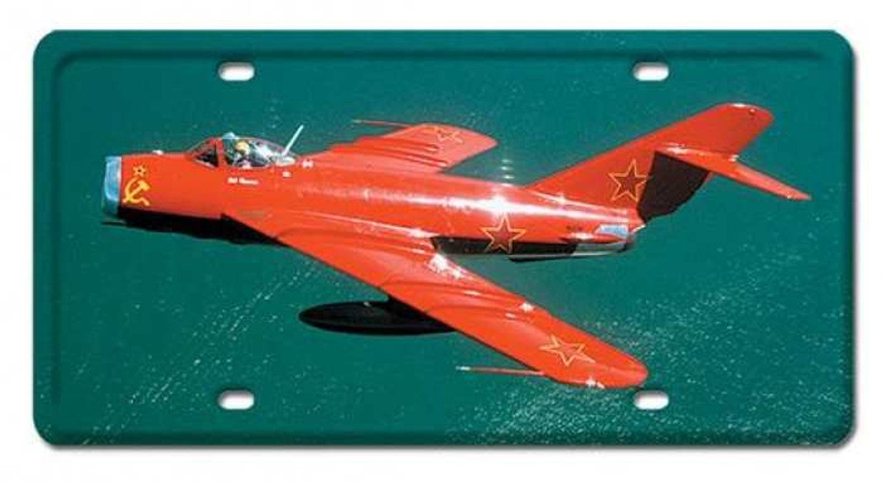 Vintage MIG-17 License Plate 6 x 12 Inches