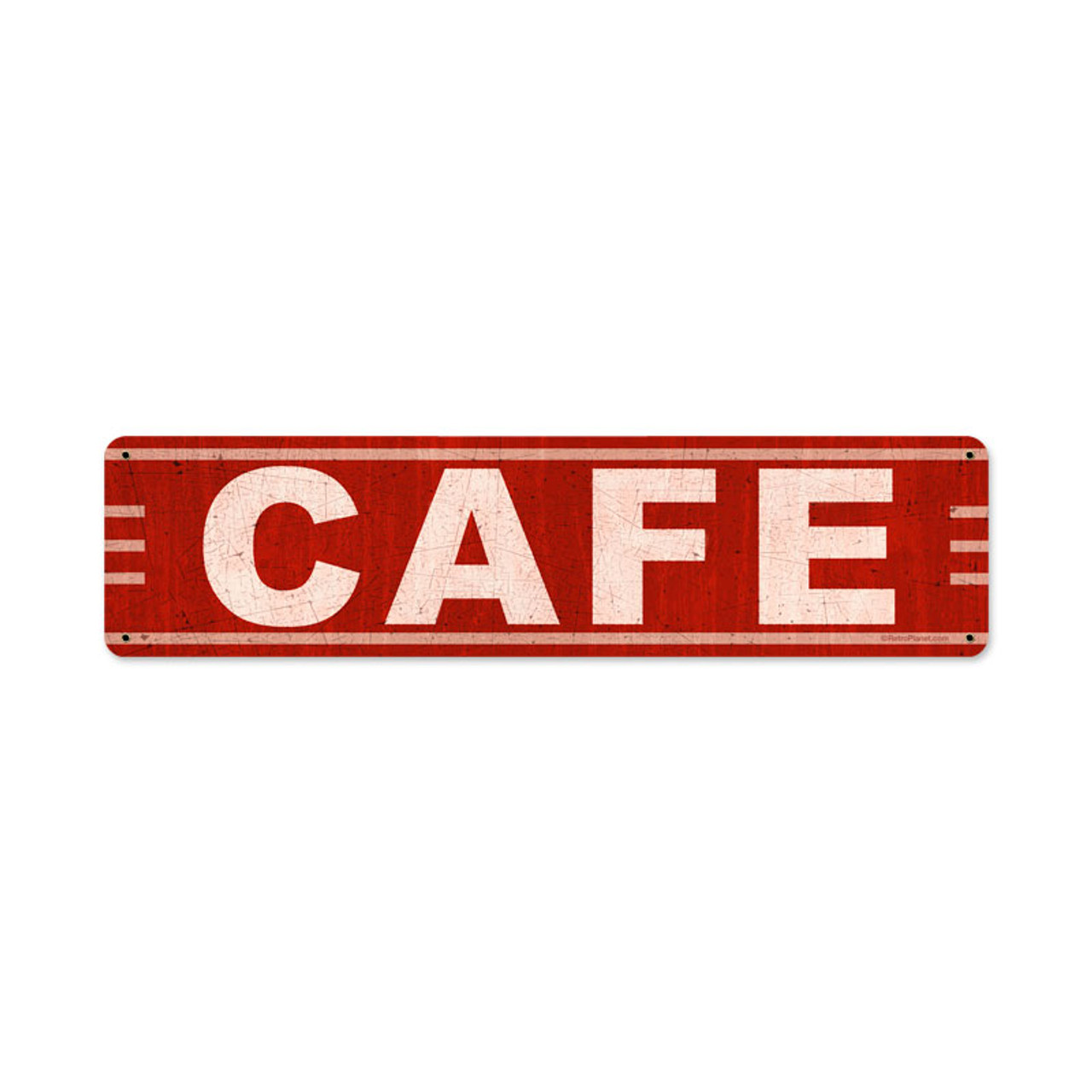Cafe Metal Sign 20 x 5 Inches