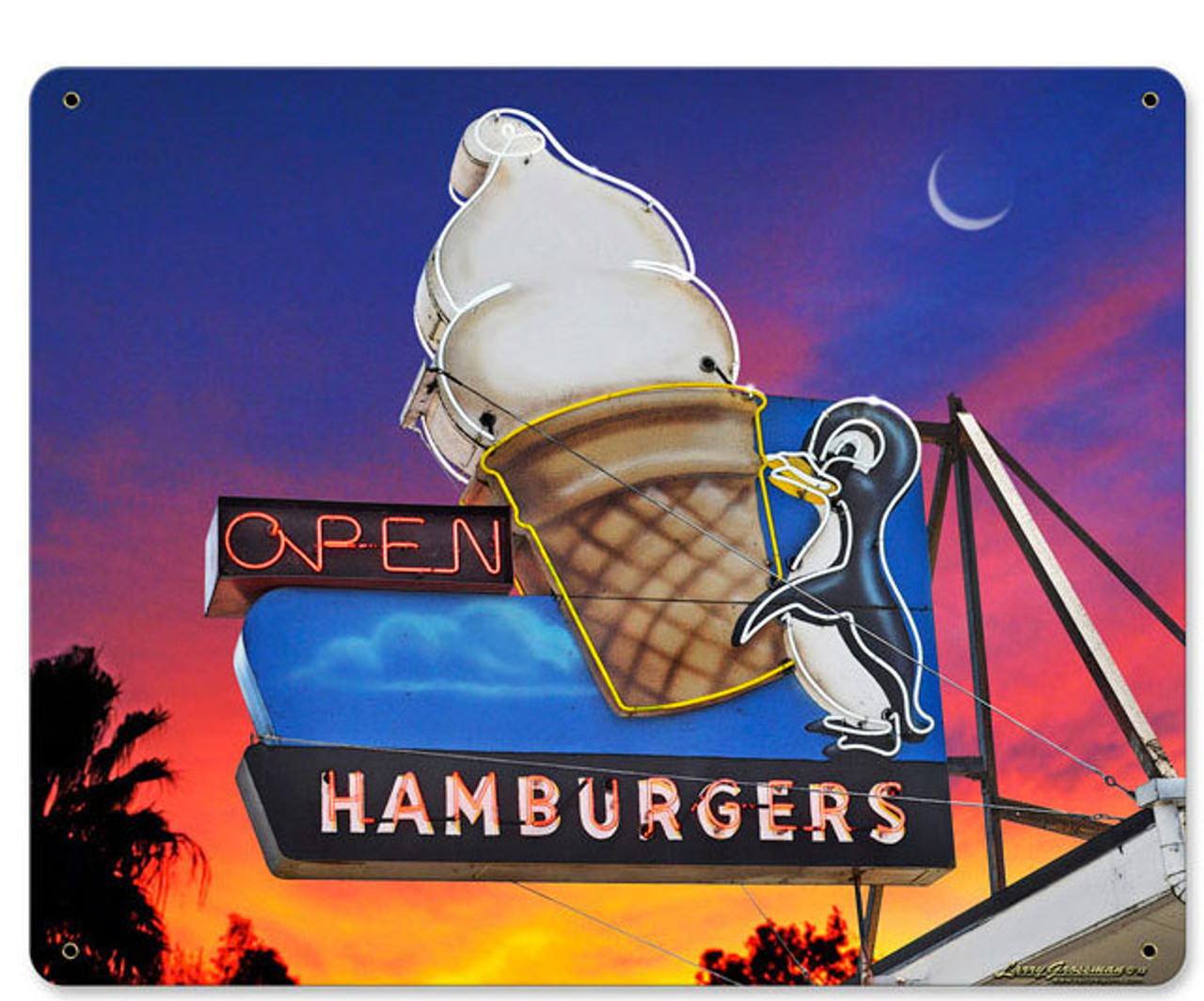 Penguin Softy Metal Sign 15 x 12 Inches