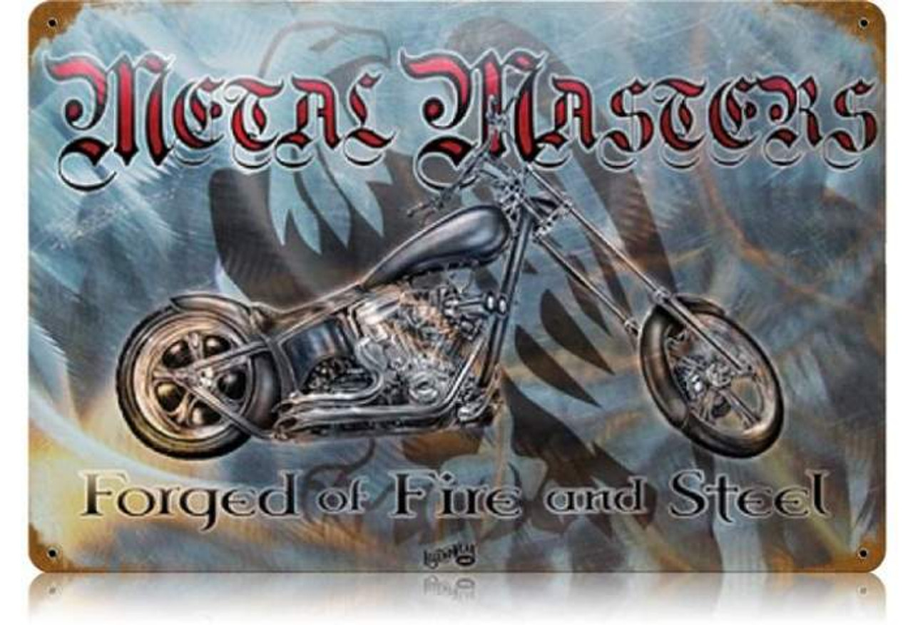 Retro Metal Master Metal Sign 18 x 12 Inches