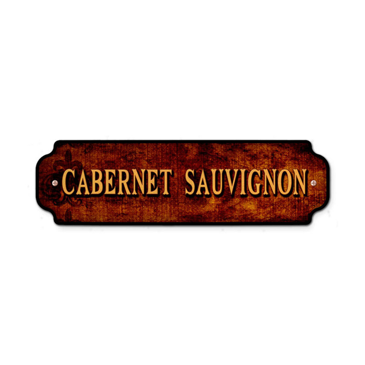 Vintage Cabernet Sauvignon Door Push 12 x 3 Inches
