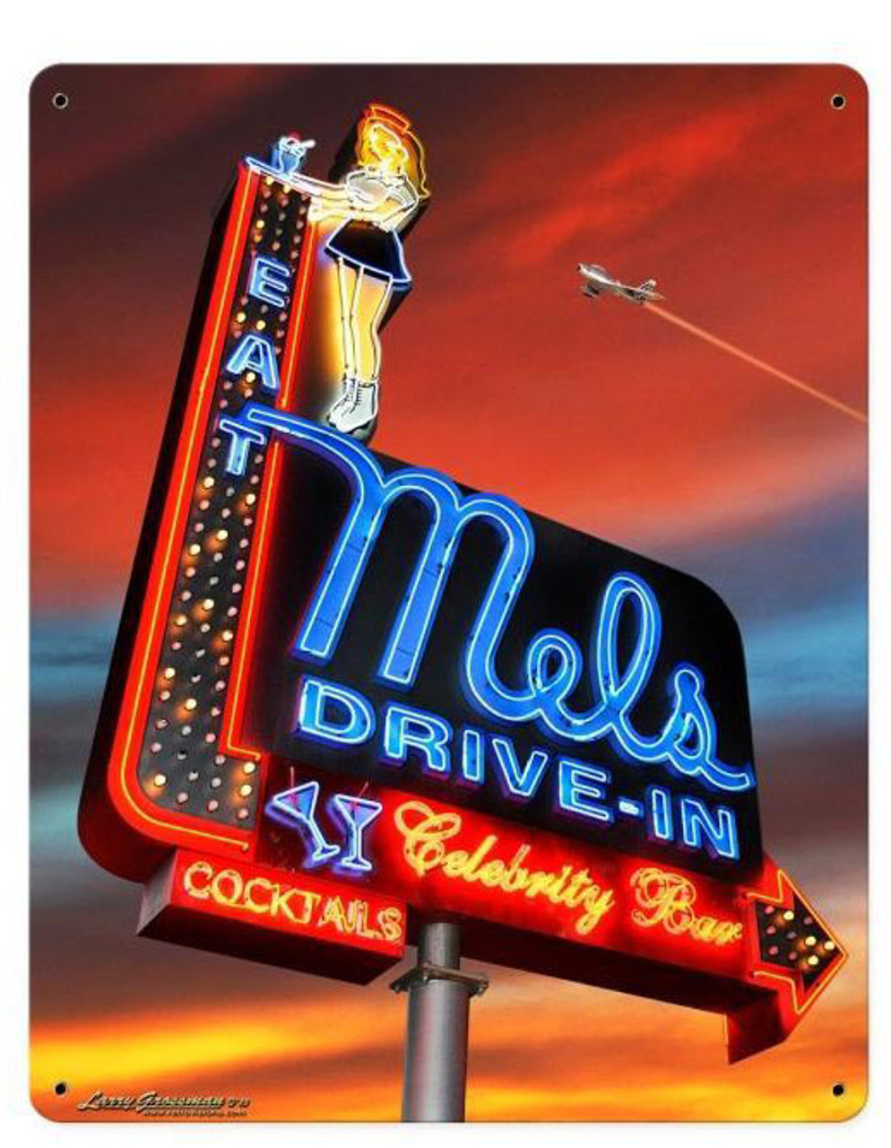 Mels Sunset Metal Sign 12 x 15 Inches