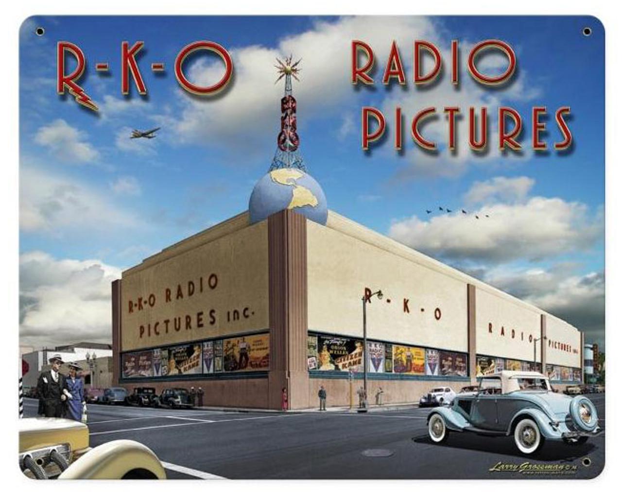 RKO Studios 2 Metal Sign 15 x 12 Inches