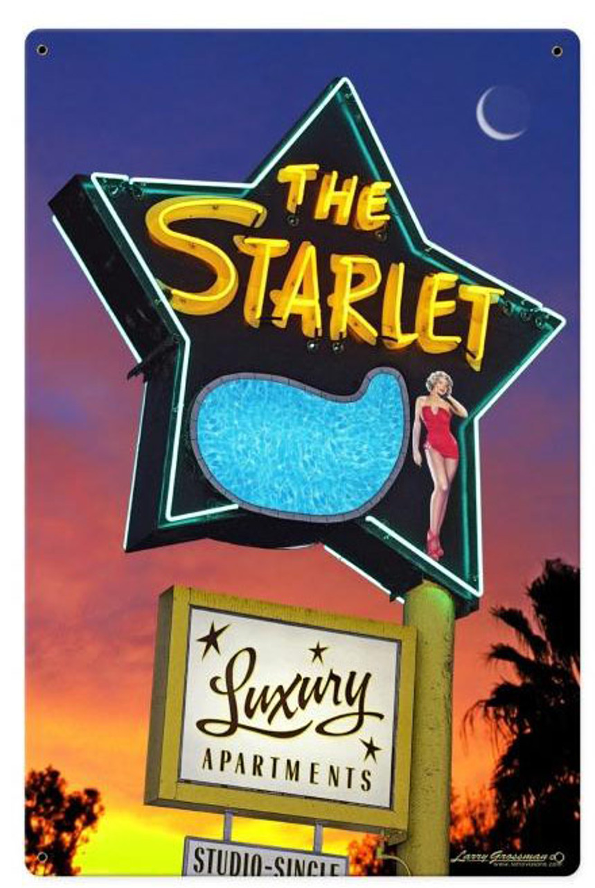 The Starlet Metal Sign 12 x 18 Inches
