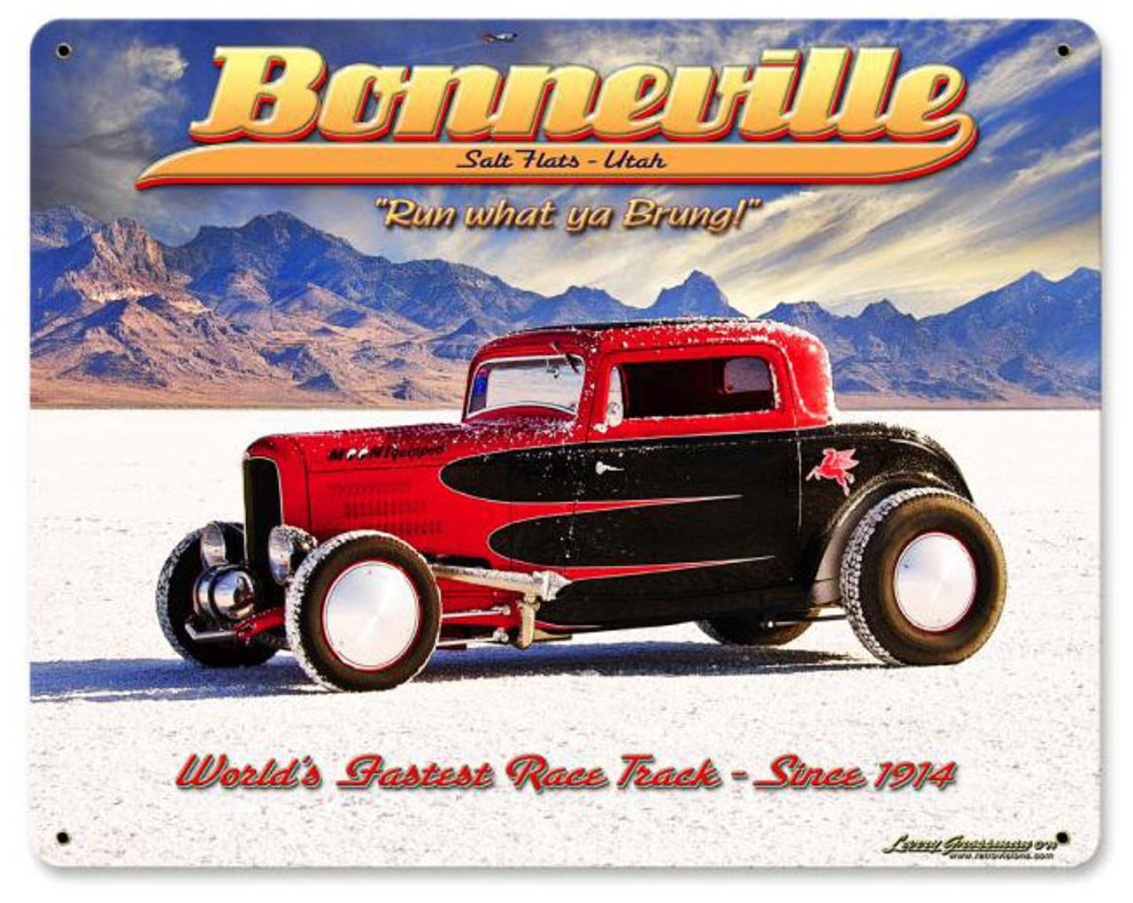 Bonneville Metal Sign 12 x 15 Inches