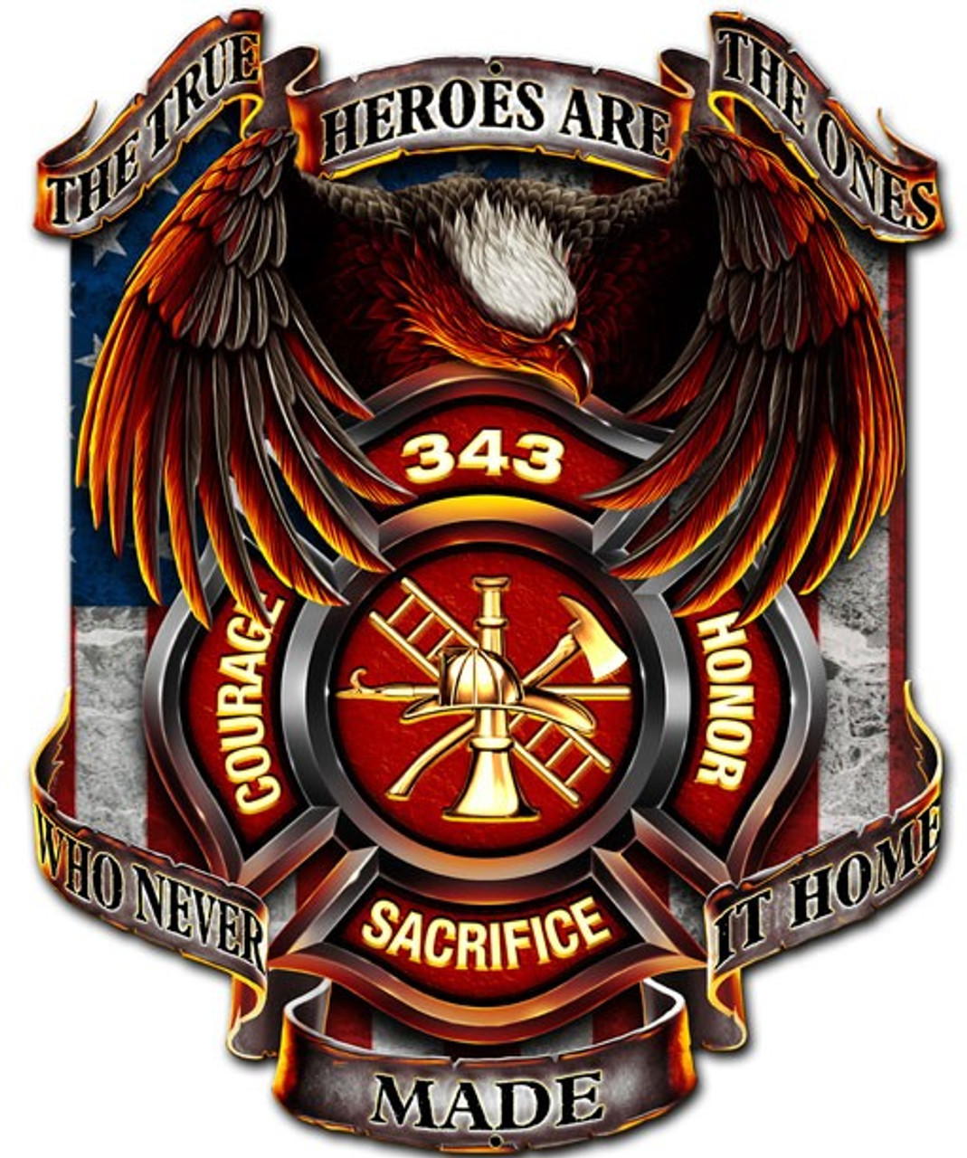 The True Heroes Metal Sign 14 x 17 Inches