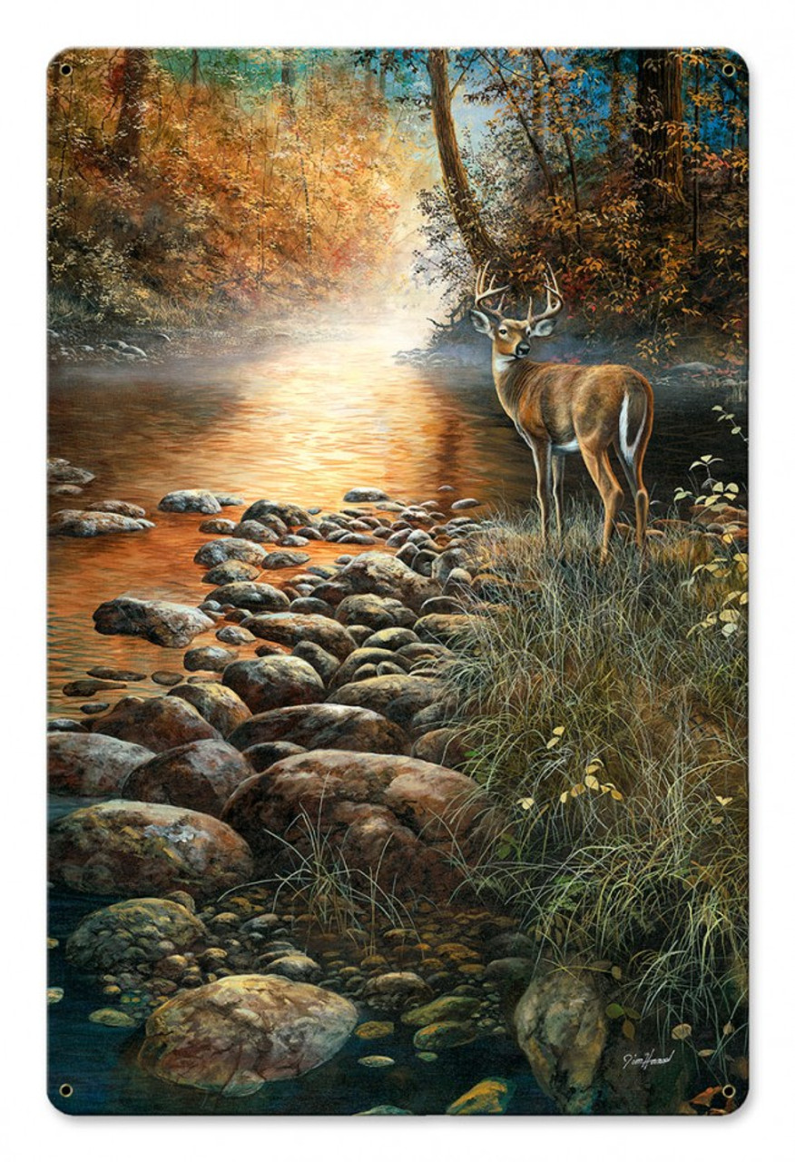 Beside Still Waters Metal Sign 12 x 18 Inches