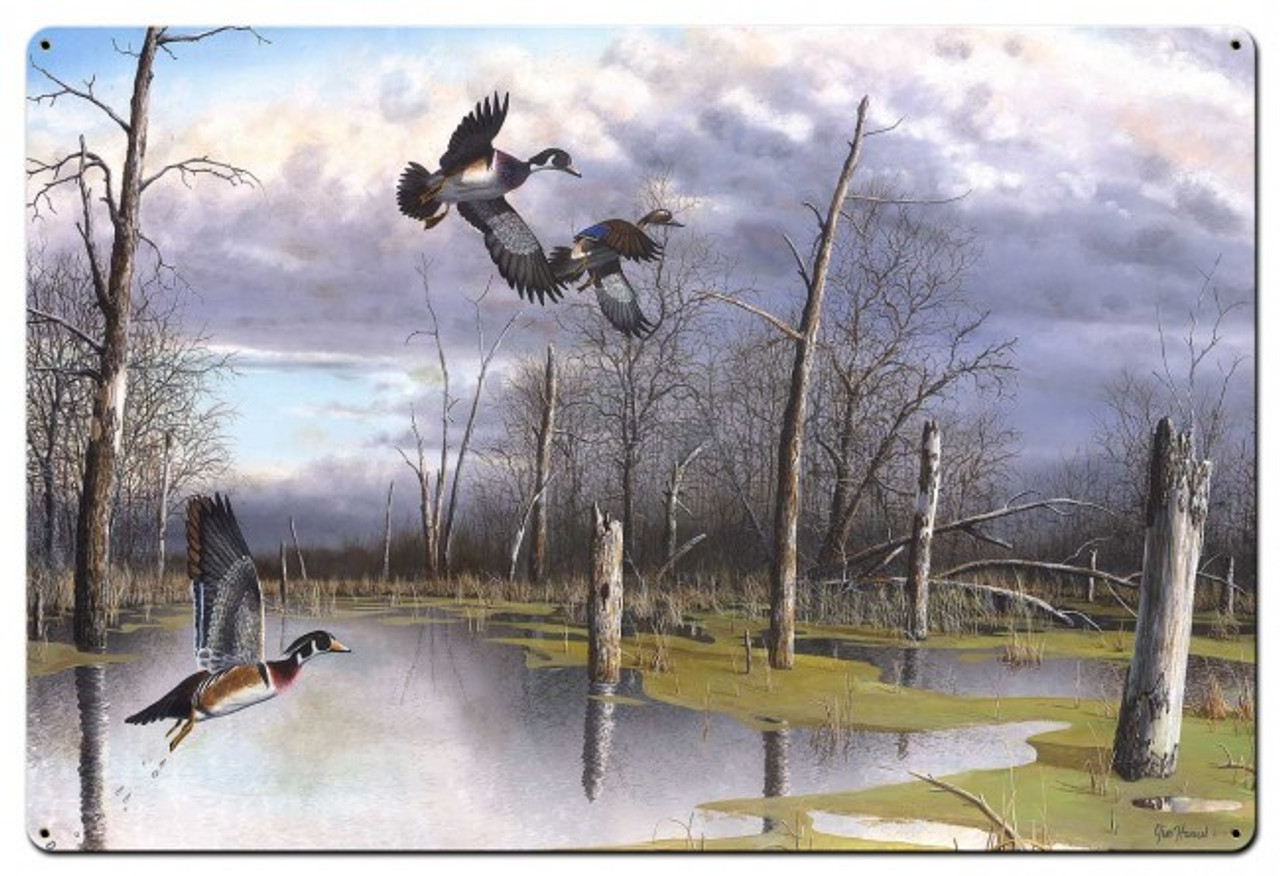 Backwater Woodies Metal Sign 36 x 24 Inches