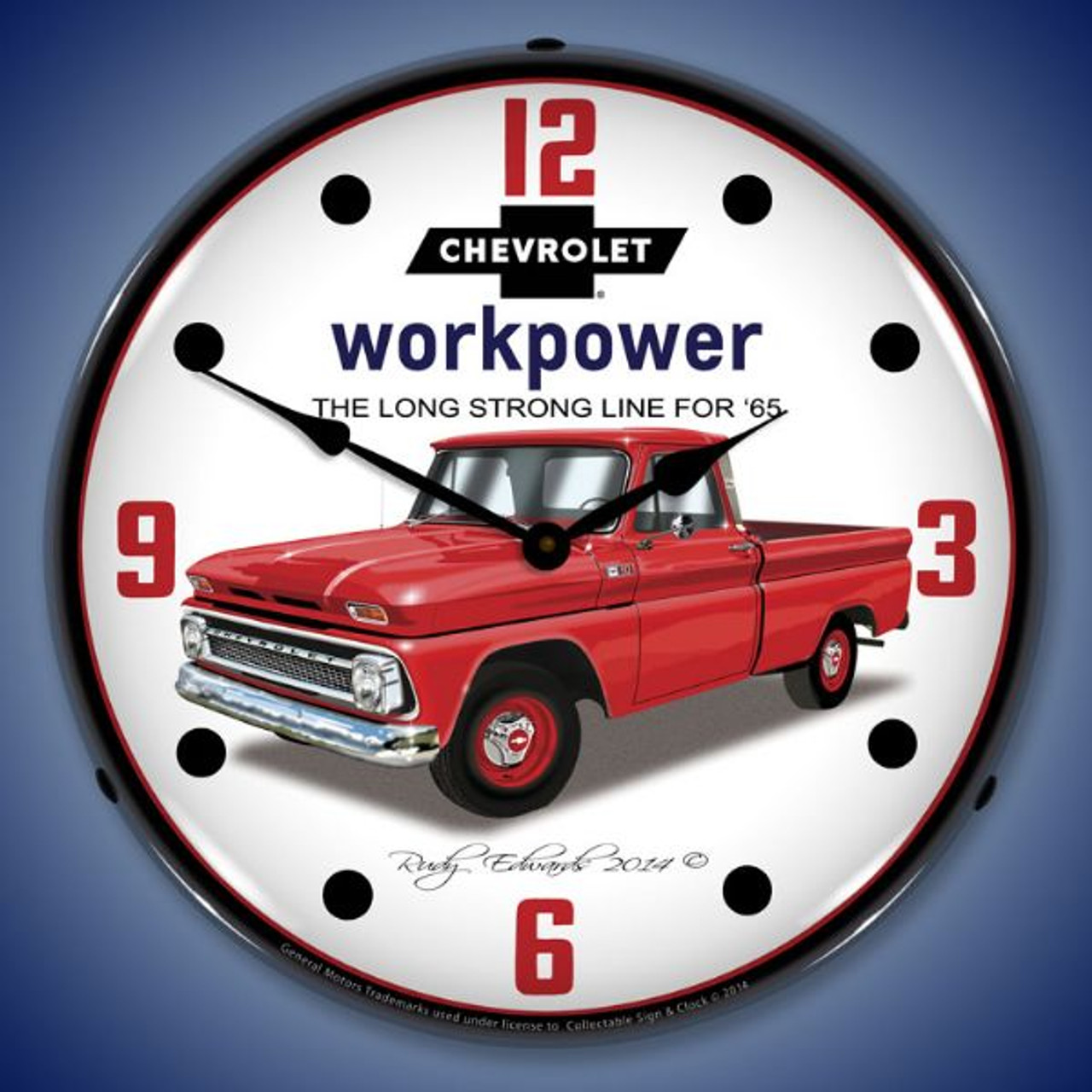1965 Chevrolet Truck Lighted Wall Clock 14 x 14 Inches