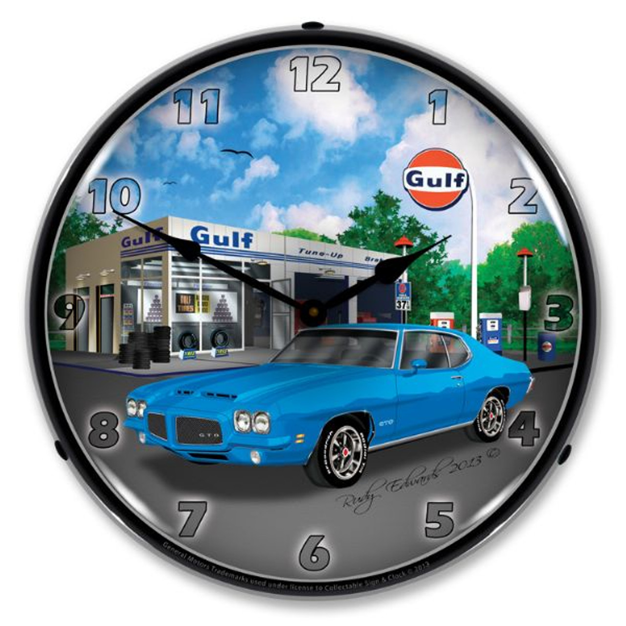 1971 GTO Lighted Wall Clock 14 x 14 Inches