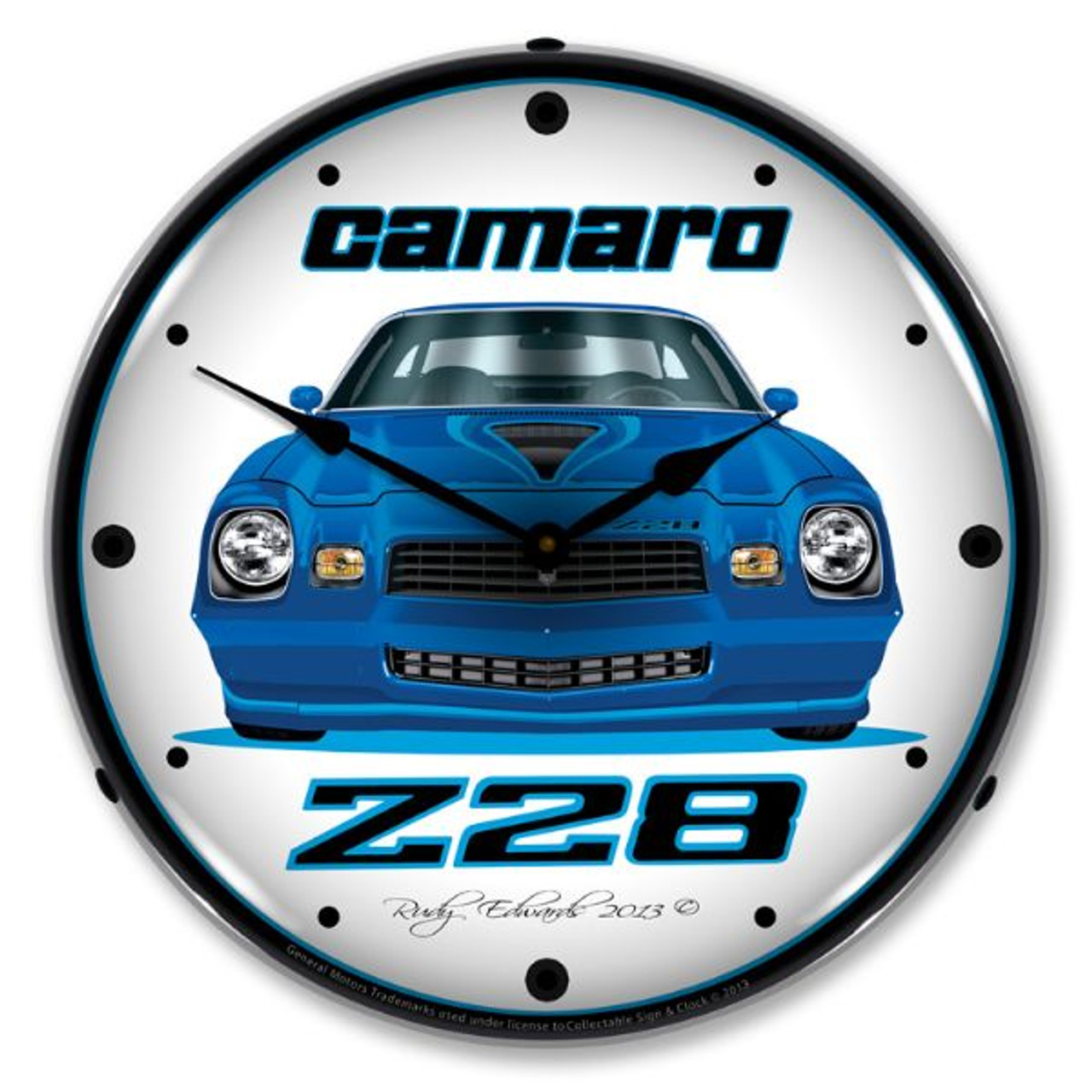1979 Z28 Camaro Lighted Wall Clock 14 x 14 Inches