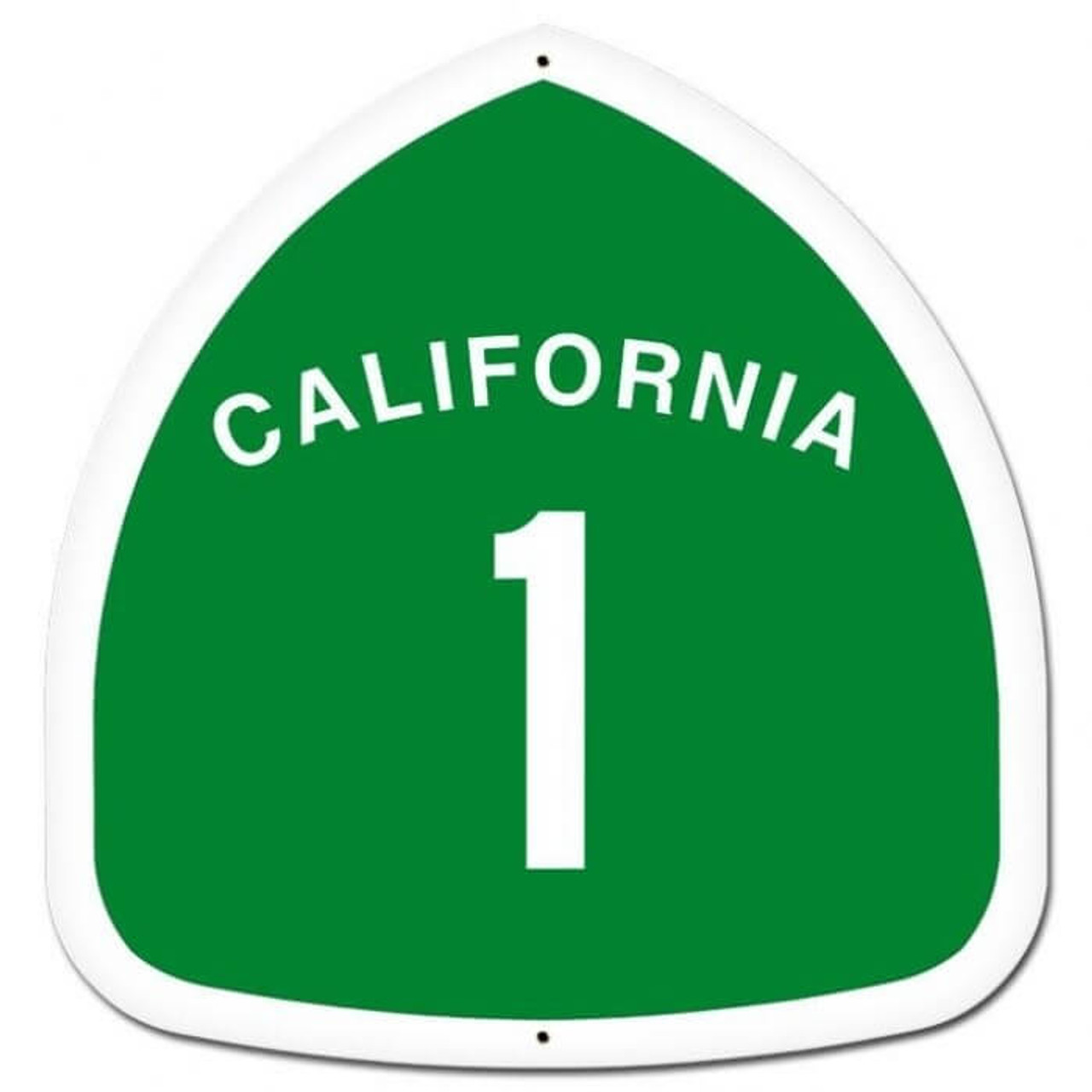 Retro California Custom Shape Metal Sign 16 x 16 Inches