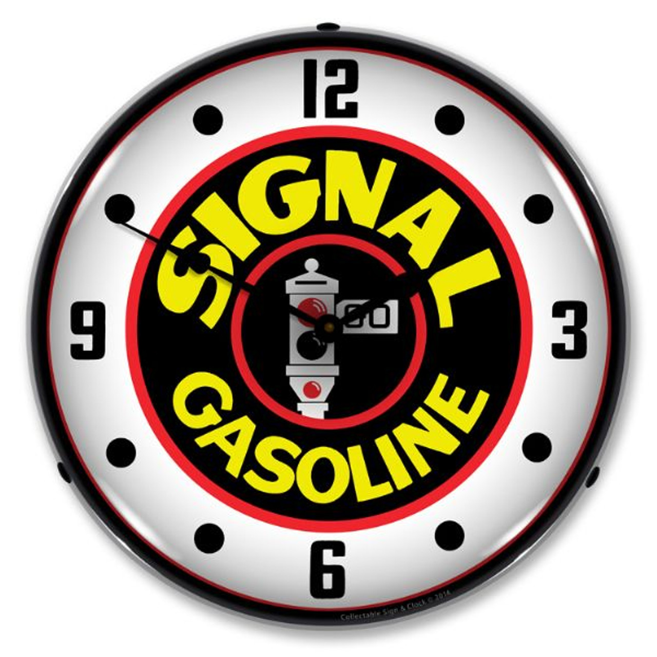 Signal Gas Lighted Wall Clock 14 x 14 Inches